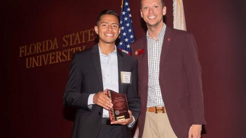 Student Employee of the Year Denis Aleman